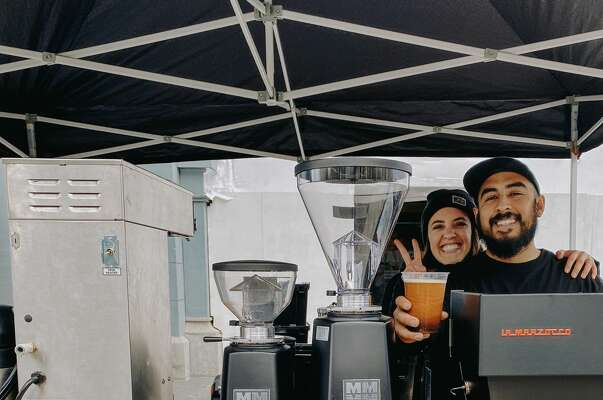 Hannah-Love Diaz and Fernando Diaz of Proyecto Diaz Coffee at the San Francisco Ferry Building Farmer's Market