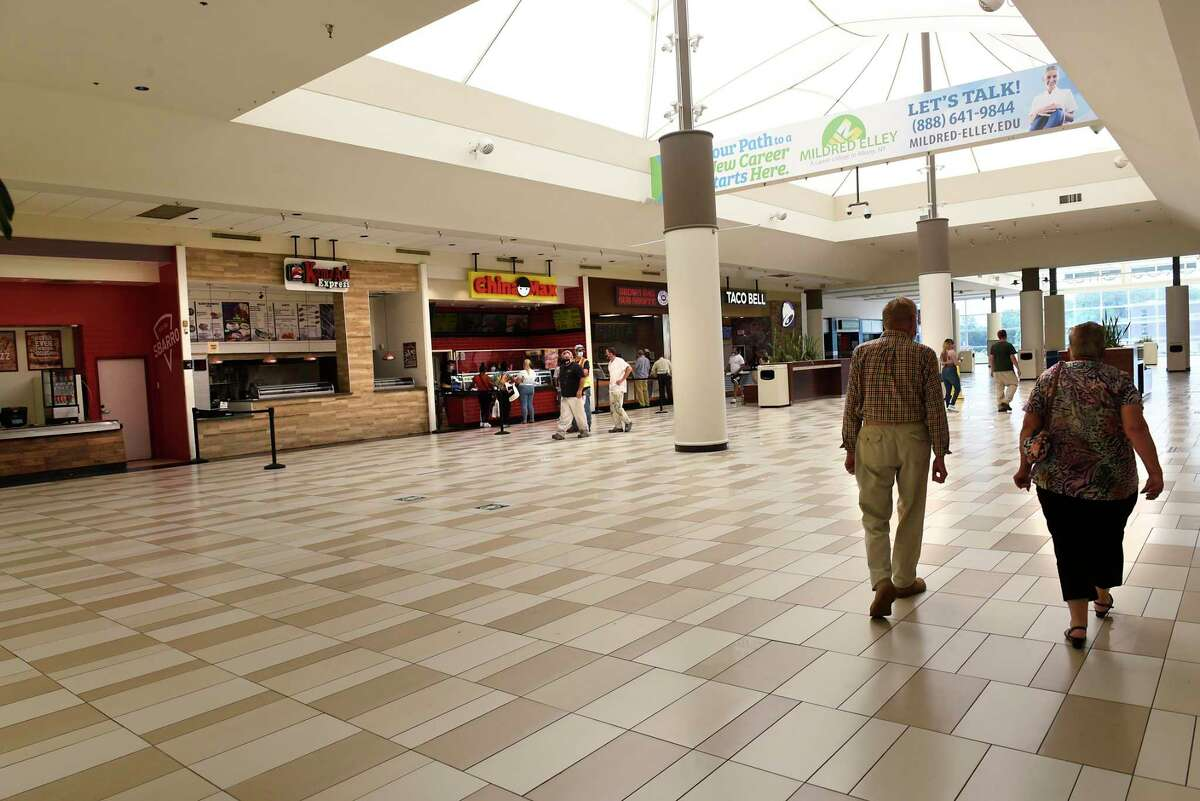 No seating was available in the food court when Crossgates Mall reopened public spaces on Friday July 10, 2020 in Guilderland, N.Y. Local malls can open their interior public spaces after the governor gave the go-ahead if the HVAC system meets certain standards for filtering out Covid-19. (Lori Van Buren/Times Union)