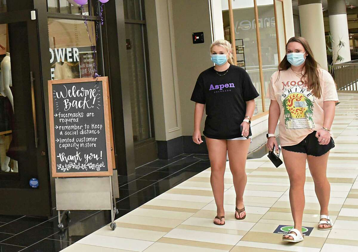 Crossgates Mall reopened public spaces after HVAC upgrades on Friday July 10, 2020 in Guilderland, N.Y. Local malls can open their interior public spaces after the governor gave the go-ahead if the HVAC system meets certain standards for filtering out Covid-19. (Lori Van Buren/Times Union)