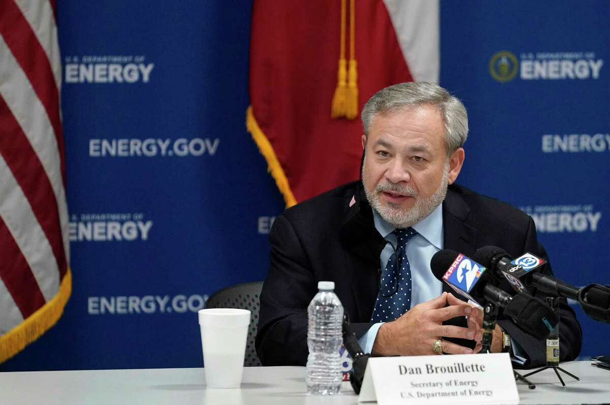 U.S. Energy Secretary Dan Brouillette speaks to the media at Houston Energy, 1200 Smith St., Friday, July 10, 2020, in Houston.