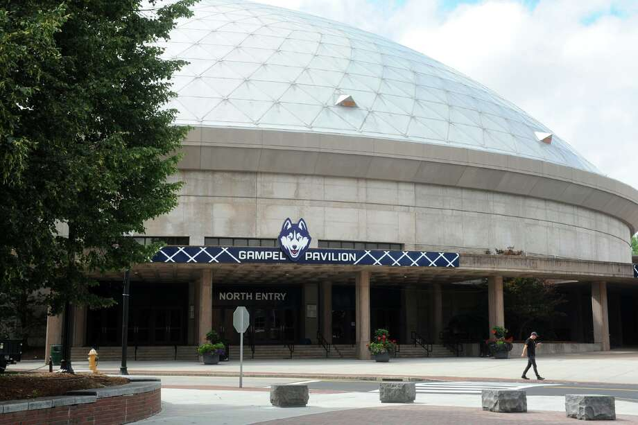 Gampel Pavilion on the UConn campus in Storrs. Photo: Ned Gerard / Hearst Connecticut Media / Connecticut Post
