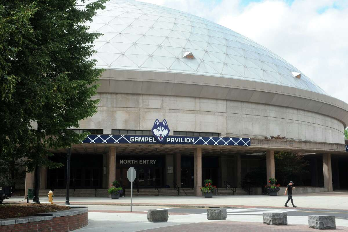 Gampel Pavilion on the University of Connecticut campus, in Storrs, Conn. Aug. 20, 2018.