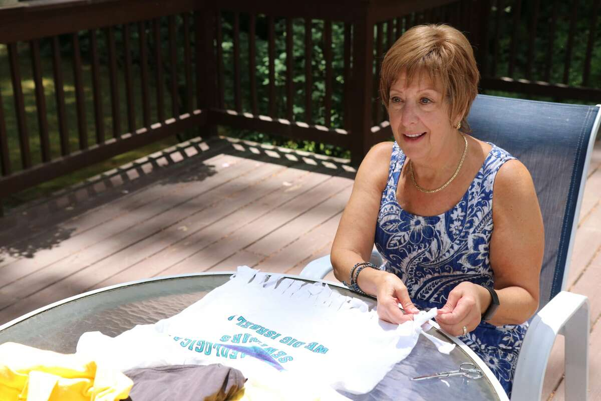 Valerie Tabak from Guilderland, who co-chairs B'nai Sholom's social action committee.