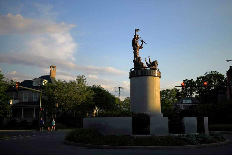 The Arthur Ashe statue on Monument Avenue in Richmond. Photo: Washington Post Photo By John McDonnell. / The Washington Post