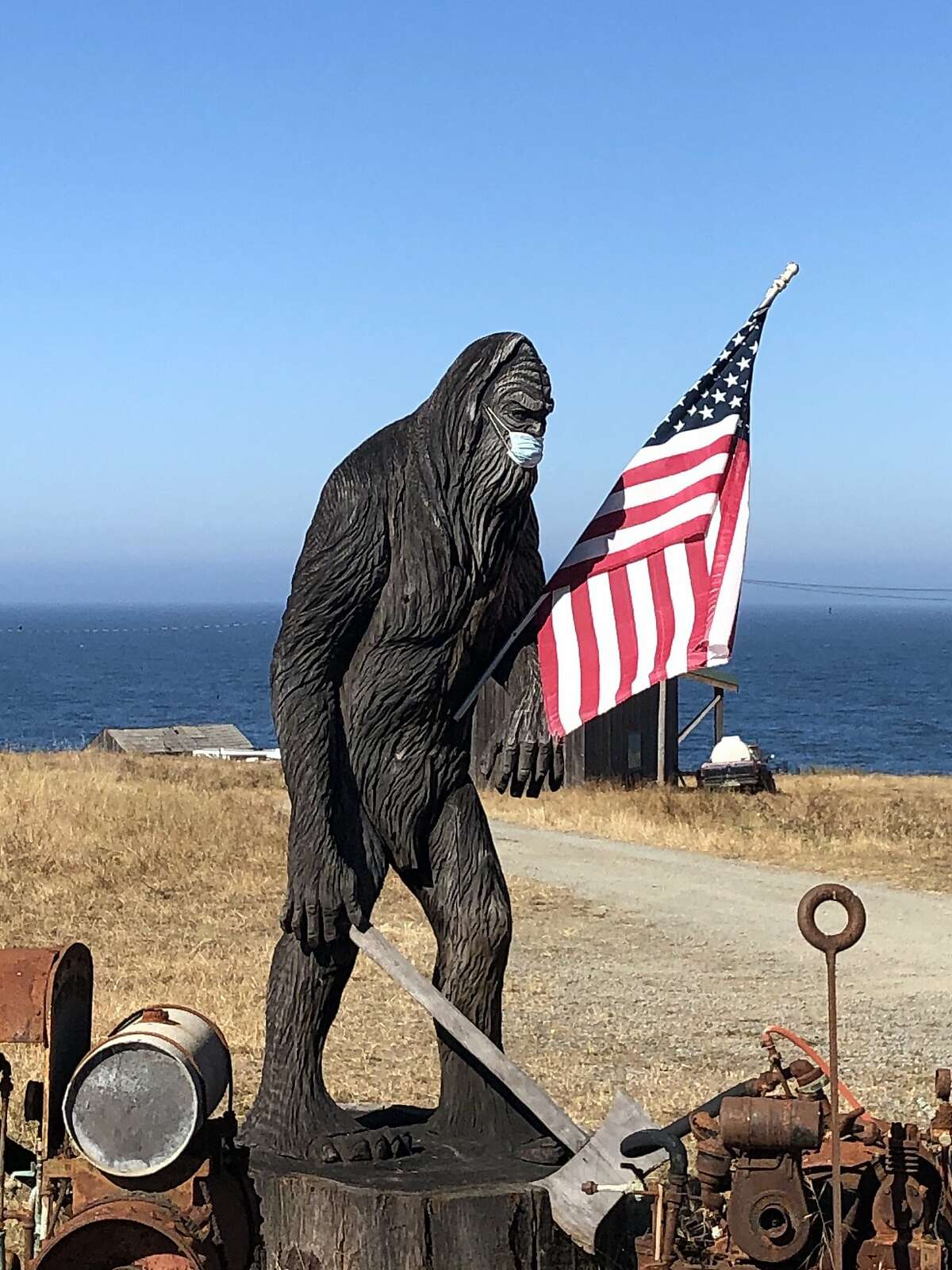 Stewarts point store and Bigfoot statue