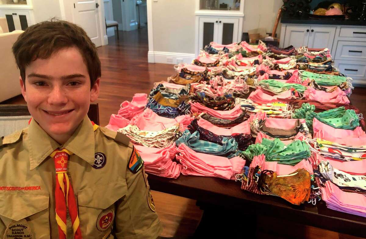 Boy Scout Parker Brown recruited volunteers to join him in sewing 1,280 badly needed masks.