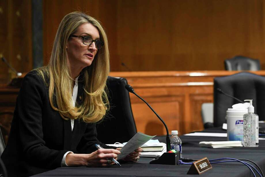 U.S. Sen. Kelly Loeffler, R-Ga., a co-owner of the WNBA's Atlanta Dream, wants politics out of the league. Renee Montgomery penned an open letter to Loeffler, who opposes Black Lives Matter. Photo: Toni L. Sandys / The Washington Post / The Washington Post