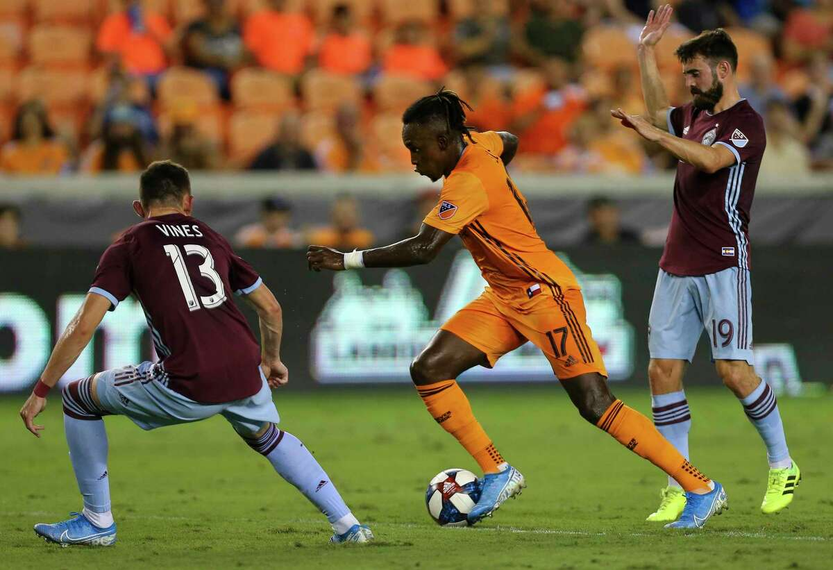 Forward Alberth Elis (17), who didn't play in the Dynamo's first two games of 2020, produced nine goals and 10 assists for them last season.