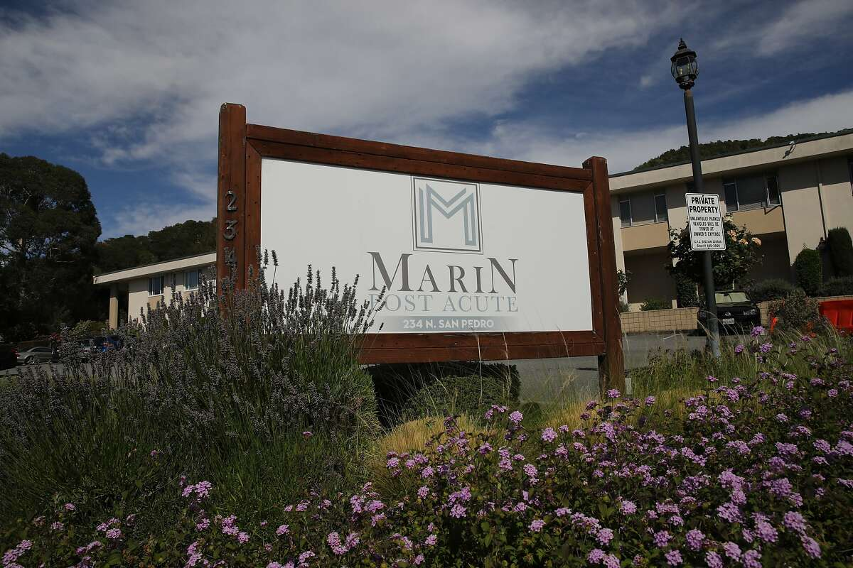 Exterior of Marin Post Acute, located at 234 N. San Pedro Rd., in San Rafael, Calif., on Friday, July 10, 2020. Sixty-six people have contracted the coronavirus at a San Rafael nursing home and three of them have died, the facility confirmed Thursday.