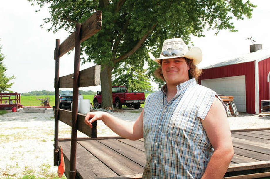 Austin Dufelmeier has been part of the Morgan County 4-H program since he was 8 years old. He said the program helped shape who he is today and he would recommend it to anyone. Photo: Darren Iozia | Journal-Courier