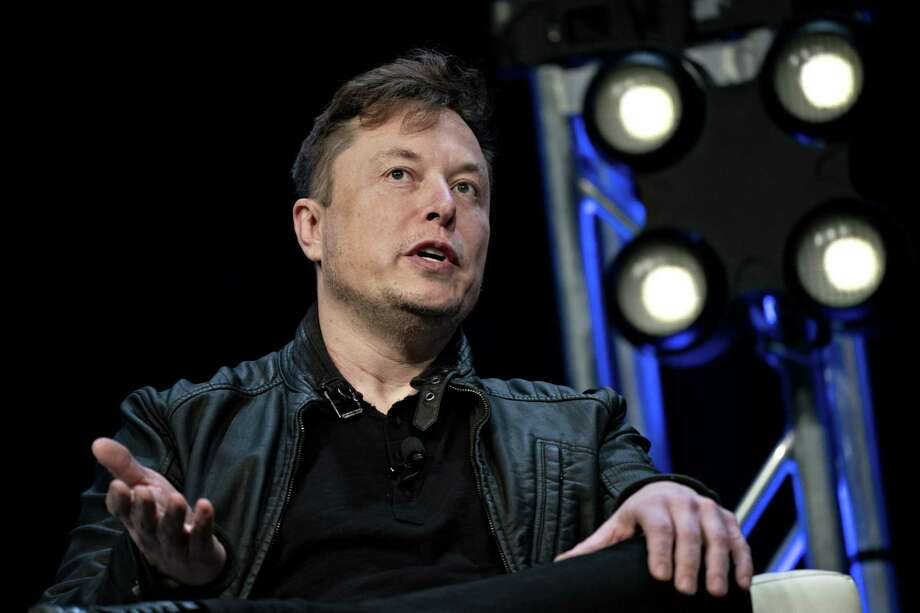 Elon Musk, founder of SpaceX and chief executive officer of Tesla Inc., speaks at the Satellite 2020 Conference in Washington, on March 9, 2020. Photo: Bloomberg Photo By Andrew Harrer. / 2020 Bloomberg Finance