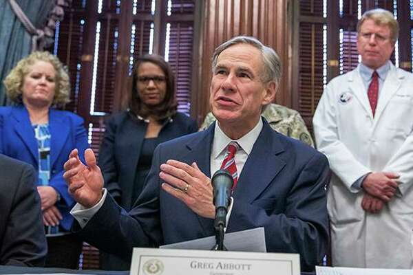 Governor Greg Abbott speaks during a press conference July 7 about new guidelines by the Texas Education Agency for the re-opening of schools.