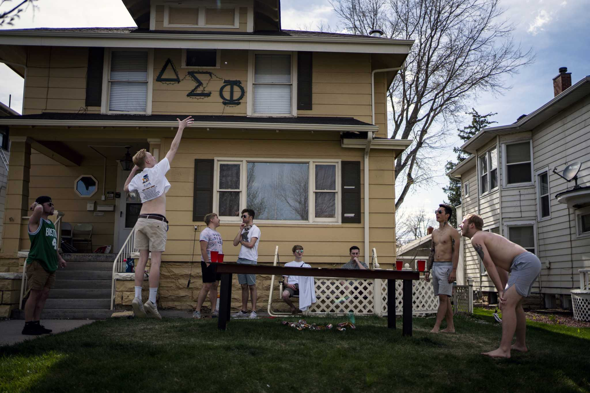 At fraternities, an alarming spike in cases