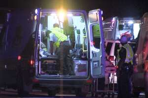 A family of four including two teenagers were involved in a crash on the South Side late Friday night.