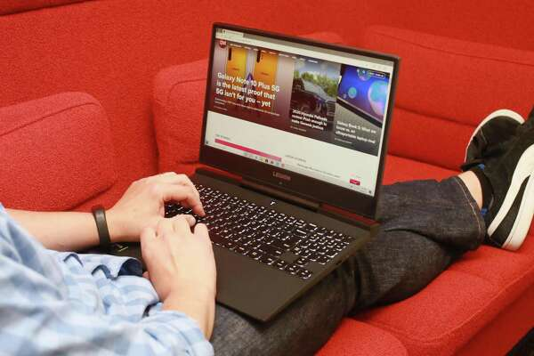 Lenovo's Legion Y545 laptop. Lenovo and HP led in global shipments in the second quarter, both shipping about 16 million units, according to Gartner.