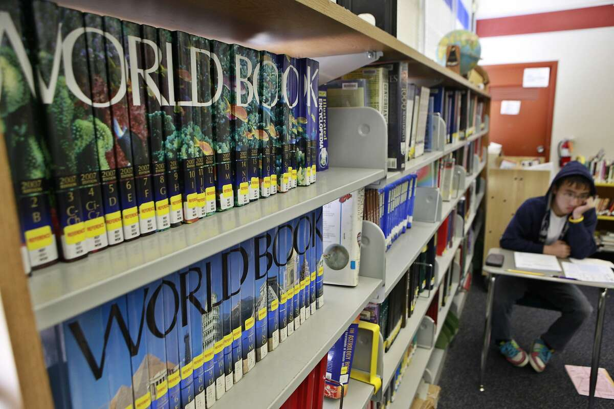 A student studies in the library at Silver Creek High School in San Jose, Calif., Wednesday, May 5, 2010. It's unclear whether students at San Jose public schools will return to classrooms in the fall, as concern from teachers mounts. (AP Photo/Paul Sakuma)