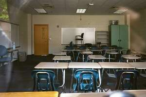 An empty classroom at Marietta High School in Marietta, Ga. July 7, 2020. The experience of schools that have reopened overseas shows that measures like physical distancing and wearing masks can make a difference in keeping the coronavirus in check. (Audra Melton/The New York Times)