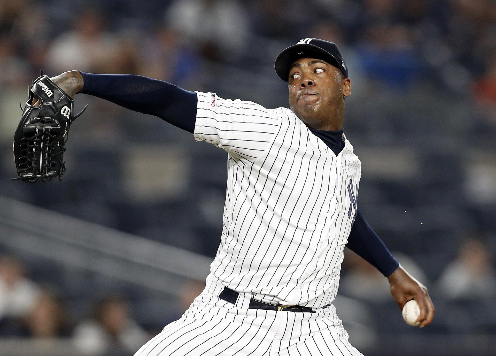 Yankees closer Chapman has coronavirus; Judge scratched
