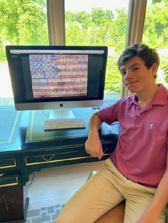 "Eighth-grader Christian Graziano won the Director's Award in the Bruce Museum's new Junior Art Competition for his digital media work, ""Fraying."" Photo: Contributed /"