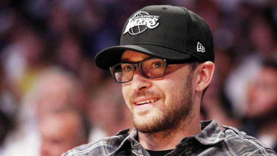 Entertainer Justin Timberlake sits courtside at Game Two of the 2010 NBA Finals between the Boston Celtics and the Los Angeles Lakers at Staples Center on June 6, 2010 in Los Angeles. Photo: File Photo / Stamford Advocate File Photo