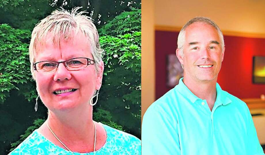 Republicans incumbent LaVonne Beebe and challenger Edward Bradford are running for Onekama Township treasurer in the Aug. 4 primary. (Courtesy photos)