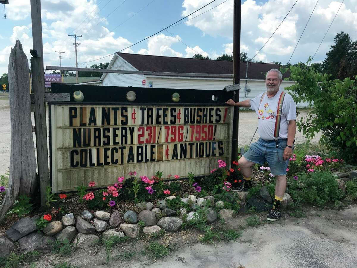 Jeff Cauffman, co-owner of P & J's Plantiques, said he loves owning a business in the Big Rapids area and working with members of the community. (Pioneer photo/Taylor Fussman)