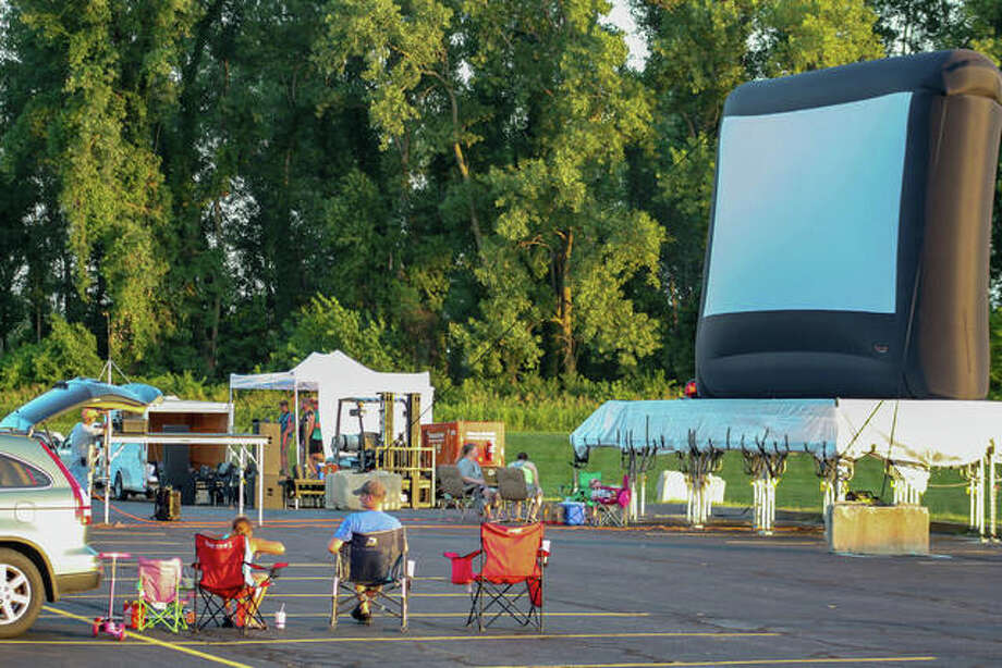 """Collinsville Parks Department and Gateway Convention Center presented the """"Gateway Drive-In"""" on Saturday, July 11, with live music from Strange Buffalo and the Pokemon movie, """"Detective Pikachu"""" Photo: Andrew Malo 