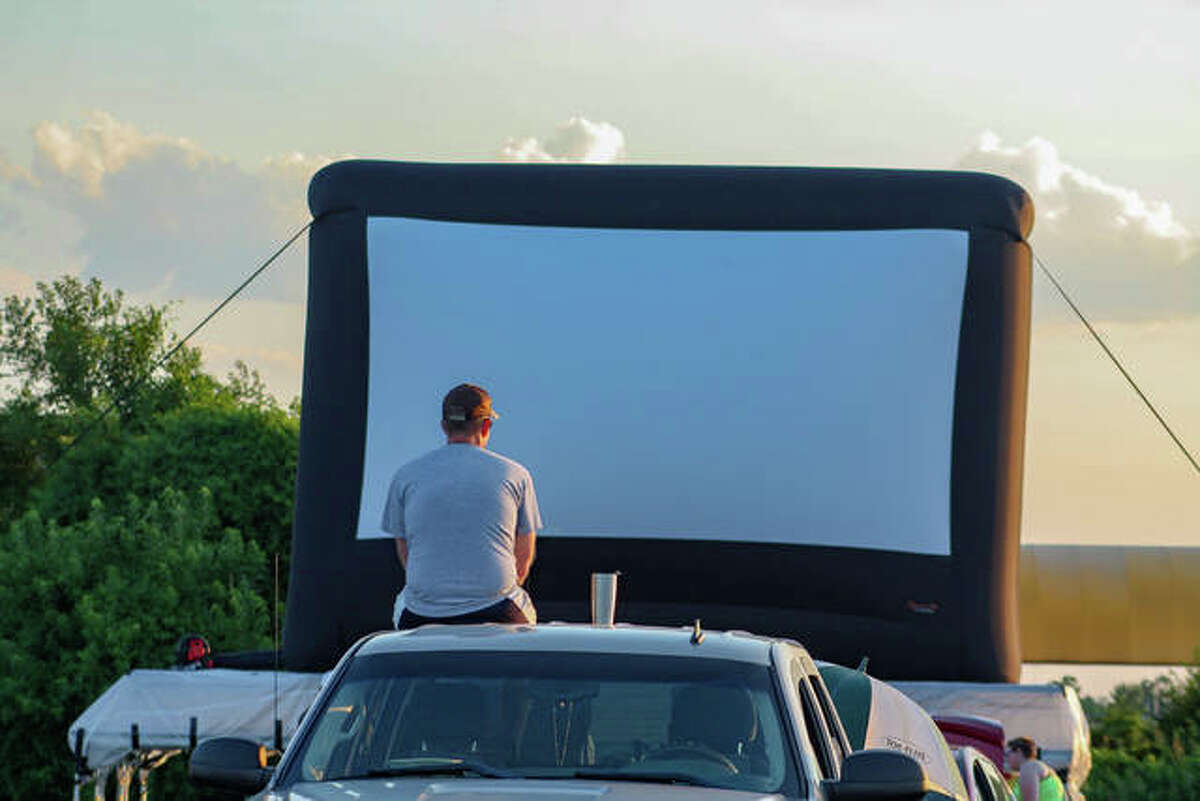 """Collinsville Parks Department and Gateway Convention Center presented the """"Gateway Drive-In"""" on Saturday, July 11, with live music from Strange Buffalo and the Pokemon movie, """"Detective Pikachu"""""""