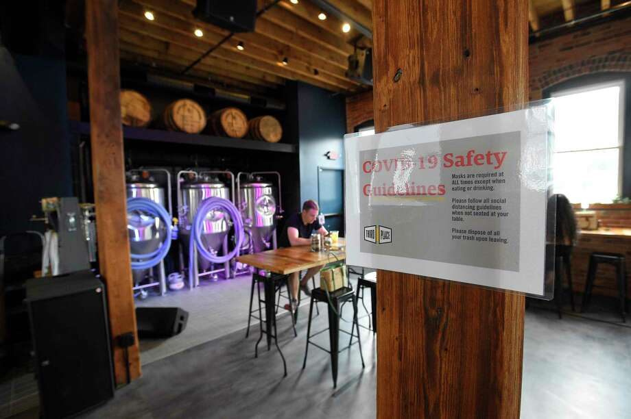 Third Place by Half Full Brewery will host a Cops and Hops town hall withe Stamford police officers Monday. Photo: Matthew Brown / Hearst Connecticut Media / Stamford Advocate