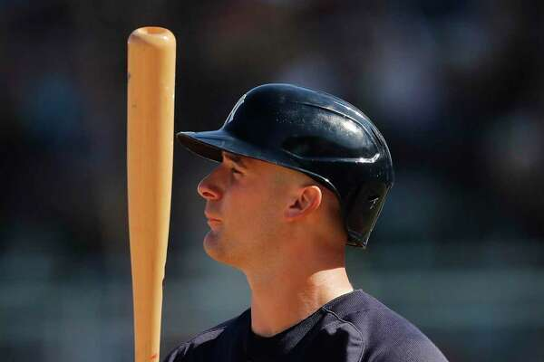 The Yankees' Thomas Milone takes an at-bat against the Red Sox during a spring training game in February.