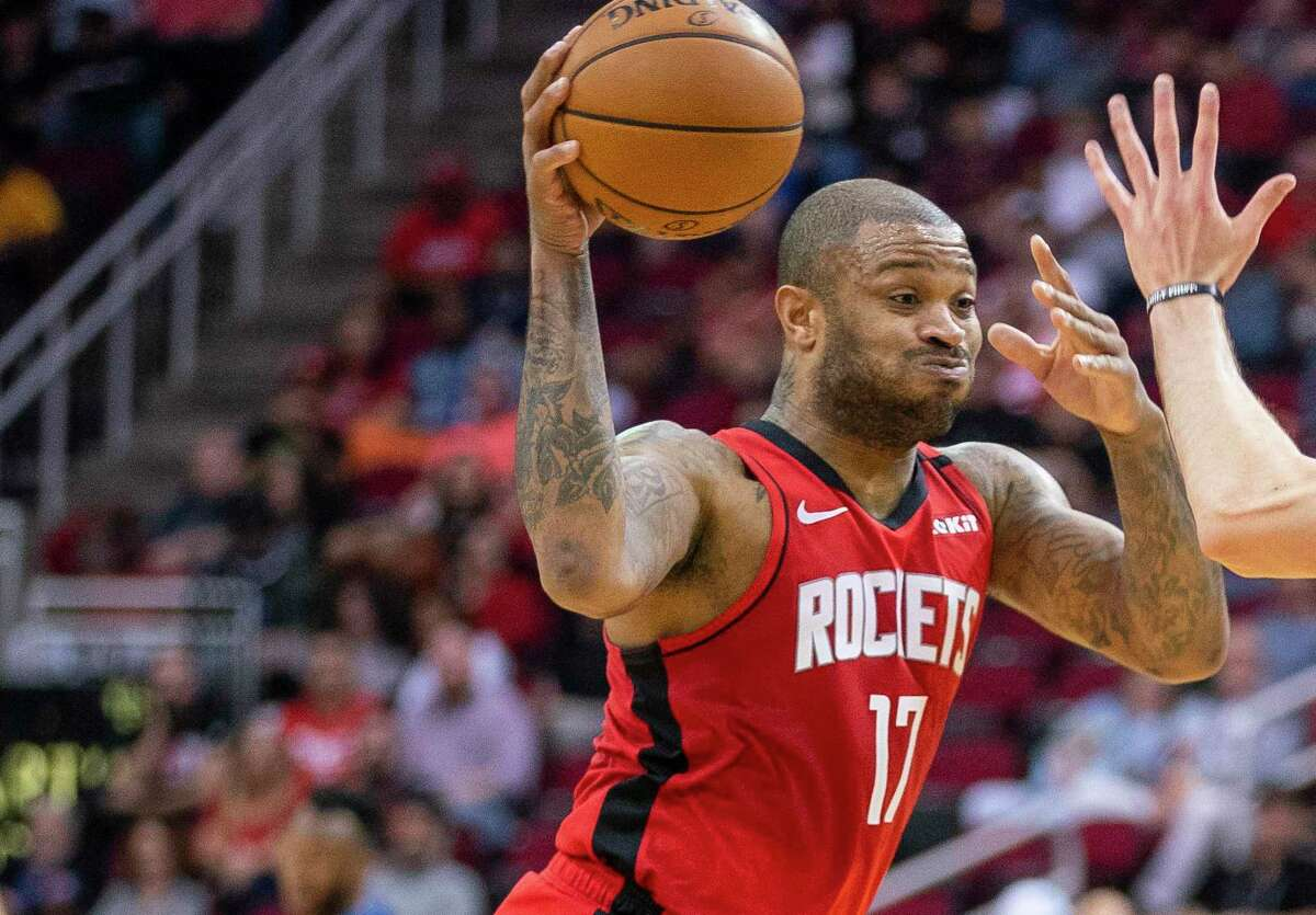 During the NBA's hiatus, P.J. Tucker worked out at his house and in his home gym.