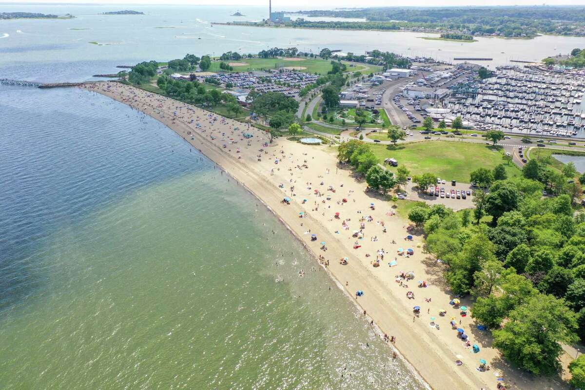 Norwalk's Calf Pasture Beach reached capacity Sunday afternoon.