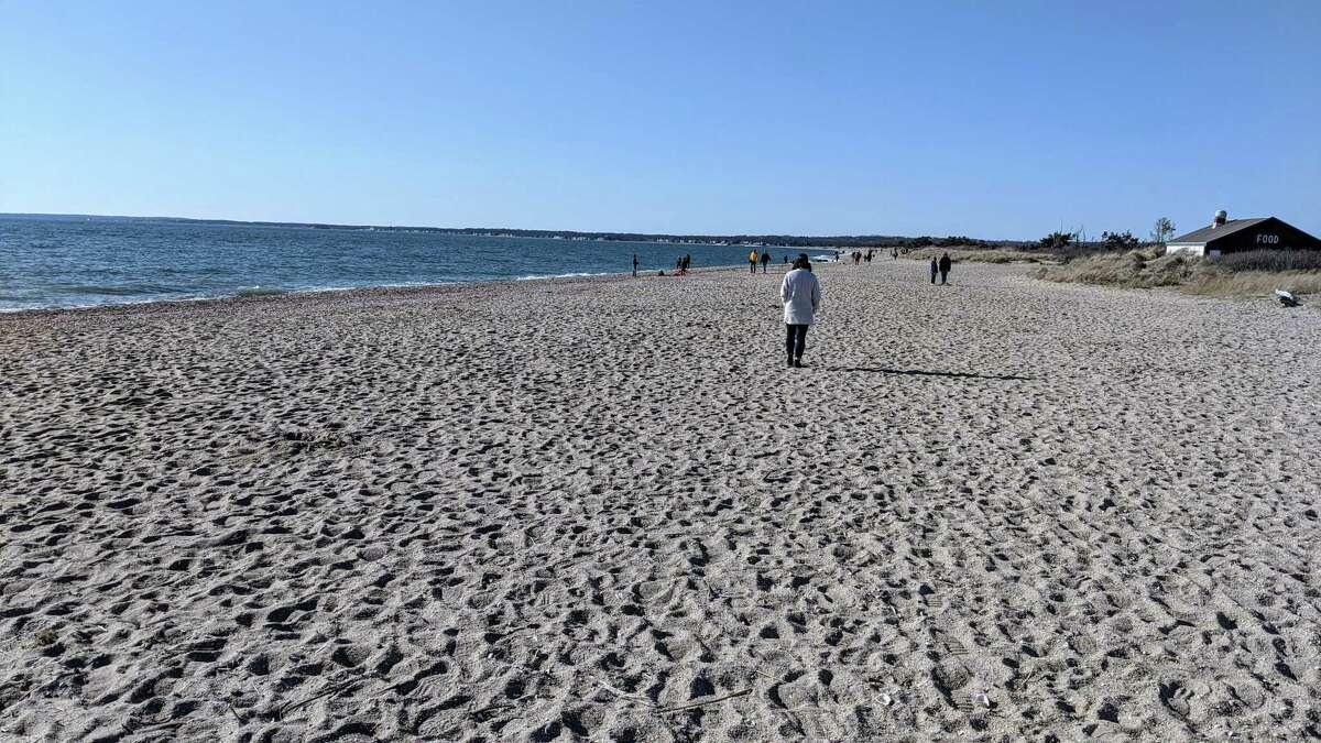Hammonasset Beach State Park on Sunday, March, 15, 2020.