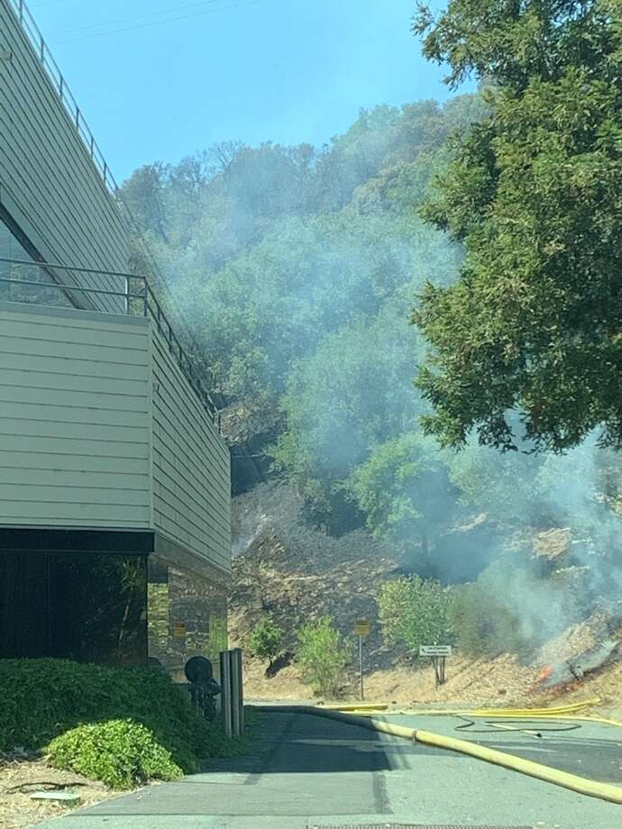 The fire went to a second alarm before forward progress was stopped and while numerous structures were threatened, none were damaged, and there were no injuries to firefighters or the public. Photo: Contra Costa Fire / Twitter