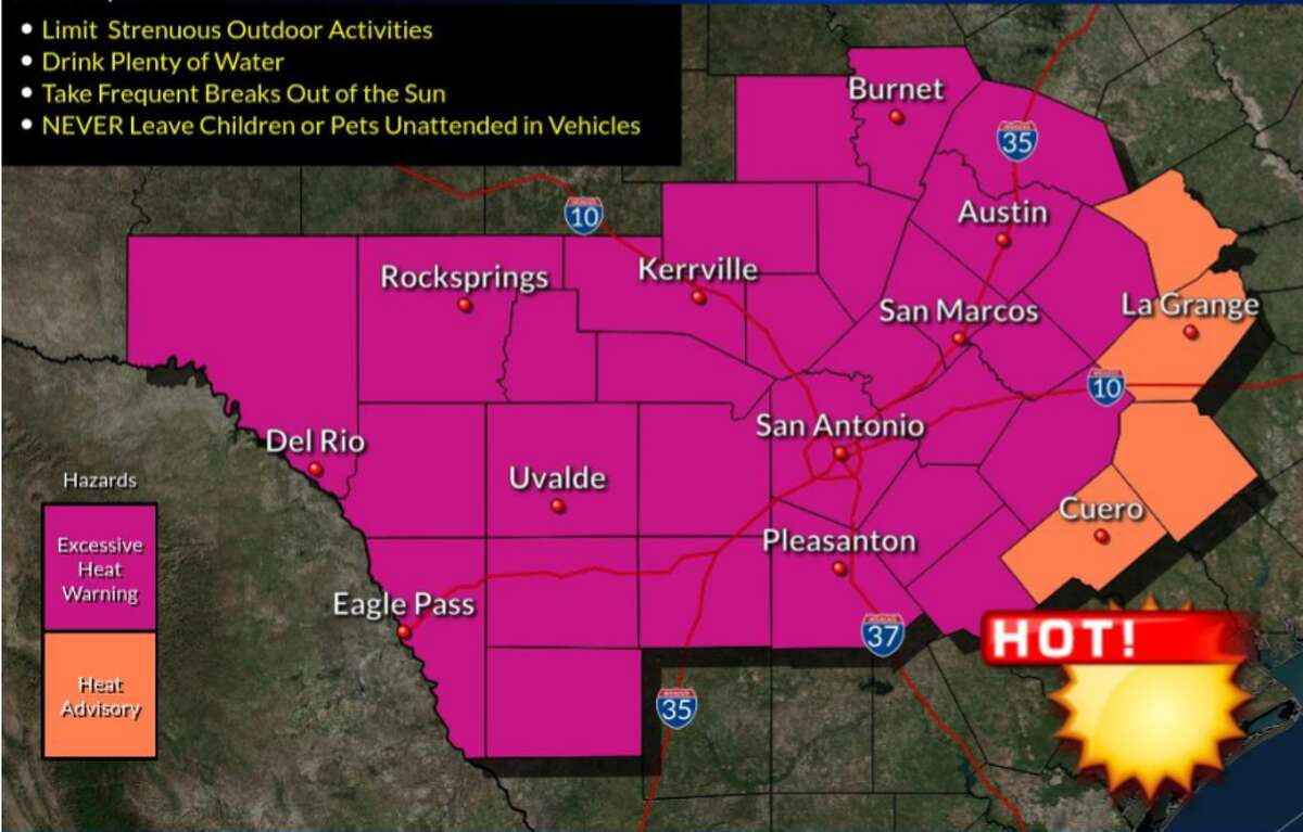 San Antonio may see the hottest day of the year Monday as the National Weather Service issues an excessive heat warning.