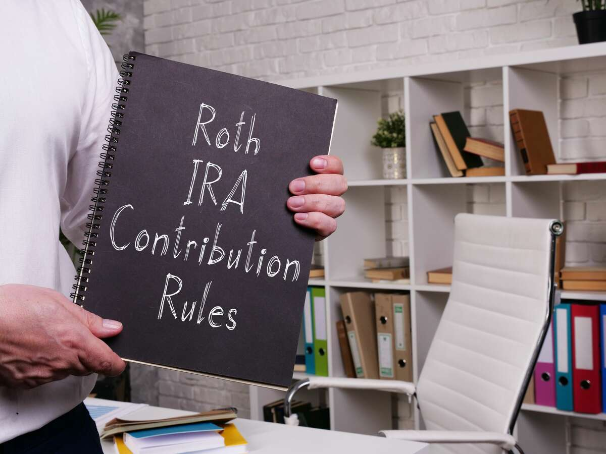 Roth IRA Contribution Rules is shown on the conceptual business photo