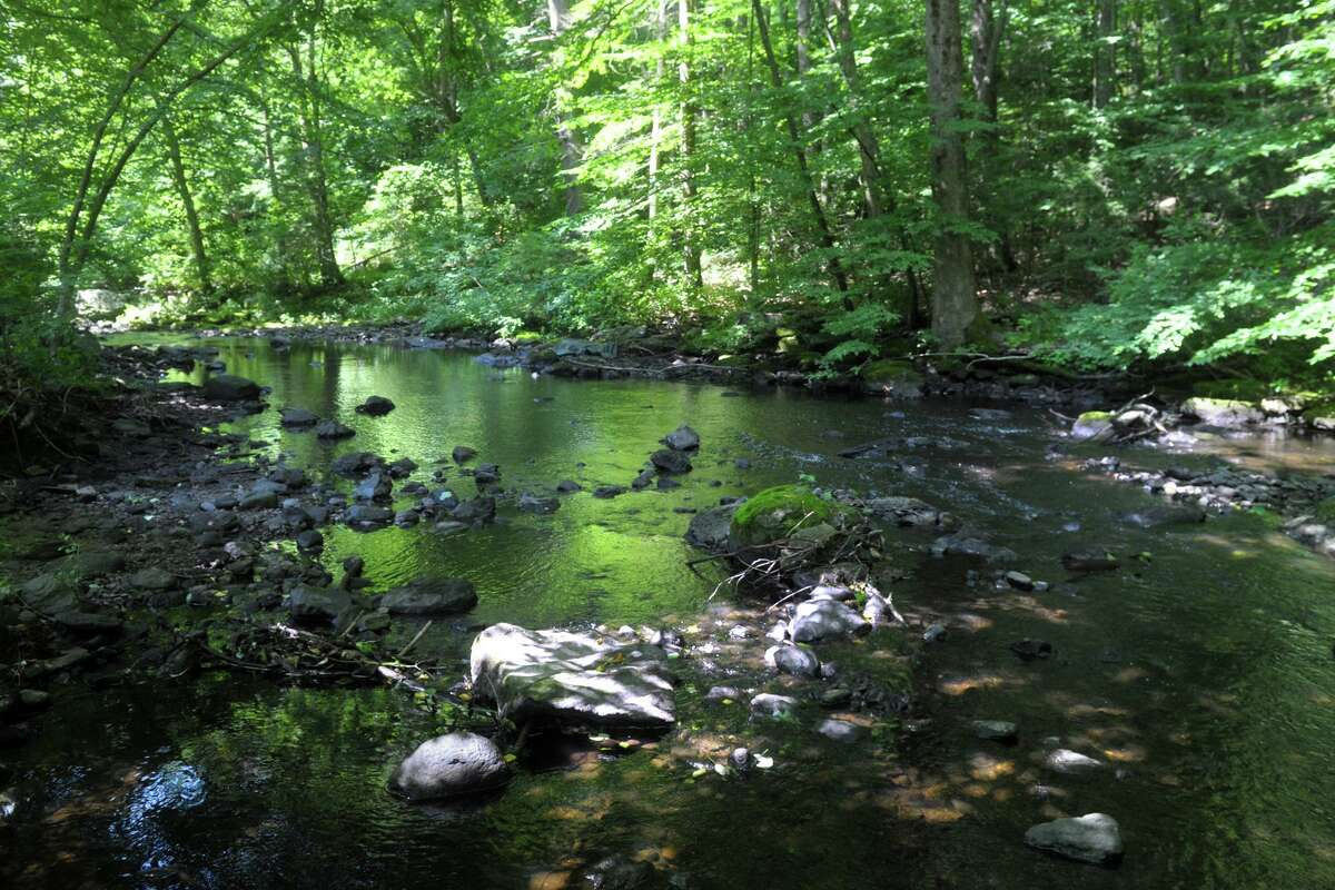 The Far Mill River, seen here from Far Mill Park in Shelton, Conn. July 13, 2020.