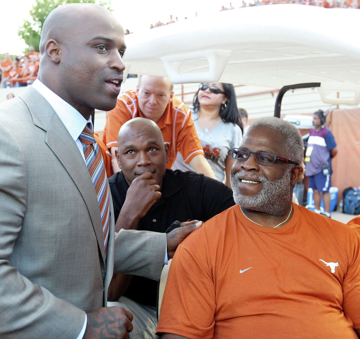 Among the changes UT announced Monday was the renaming of the football field after Heisman Trophy winners Ricky Williams (left) and Earl Campbell.