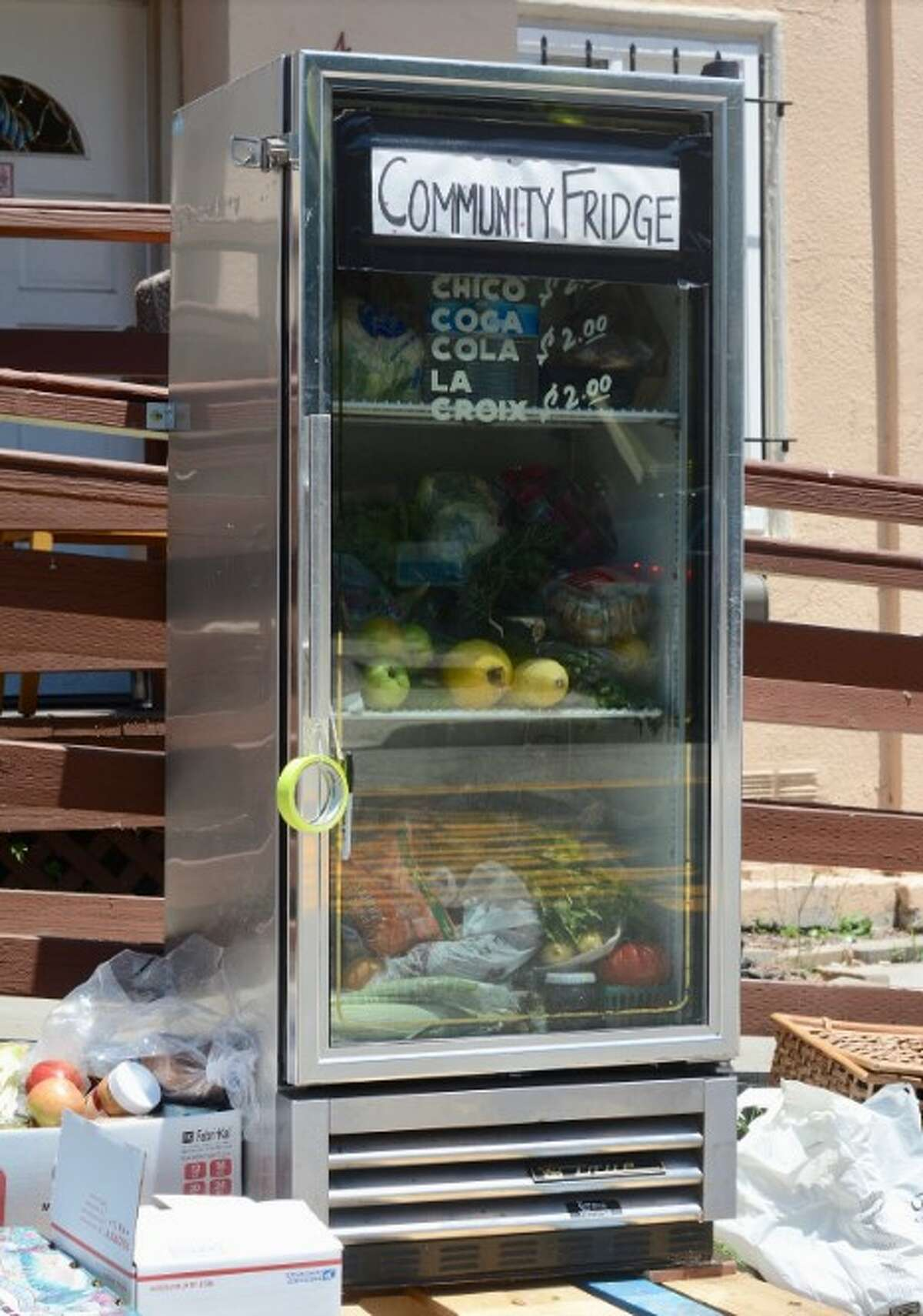 A Town Fridge on 16th and West in Oakland, California.