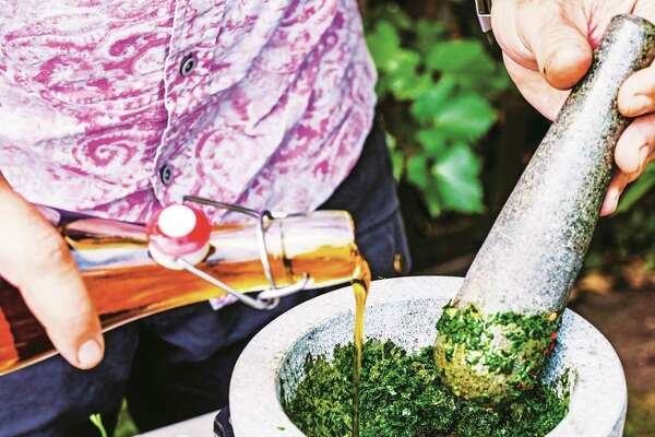 Chimichurri (recipe in column): Wonderful as a condiment or drizzled over grilled or ember-roasted vegetables. Add a spoonful to natural yogurt to make a delicious dip.