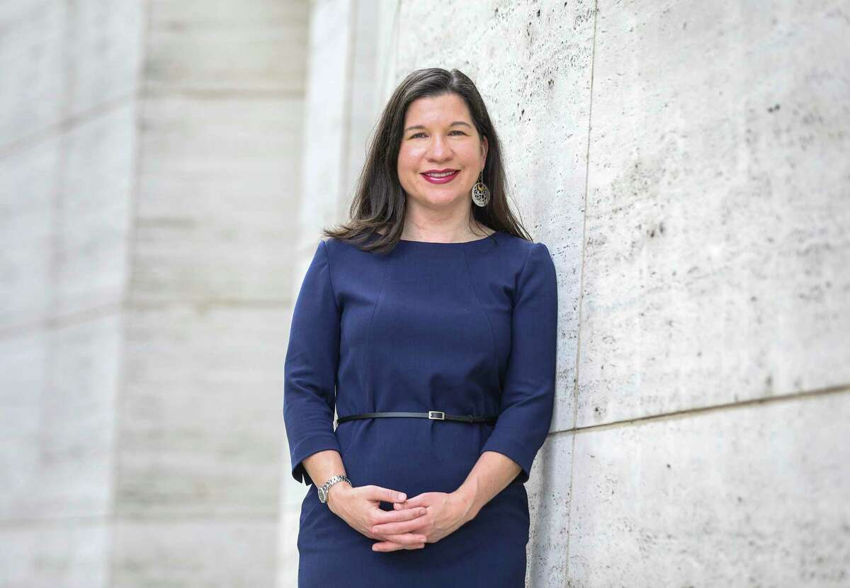 Keri Brown, a partner at Baker Botts L.L.P. and the firmwide partner-in-charge of corporate social responsibility, poses for a portrait Thursday, July 2, 2020, outside of the firm's offices in Houston.