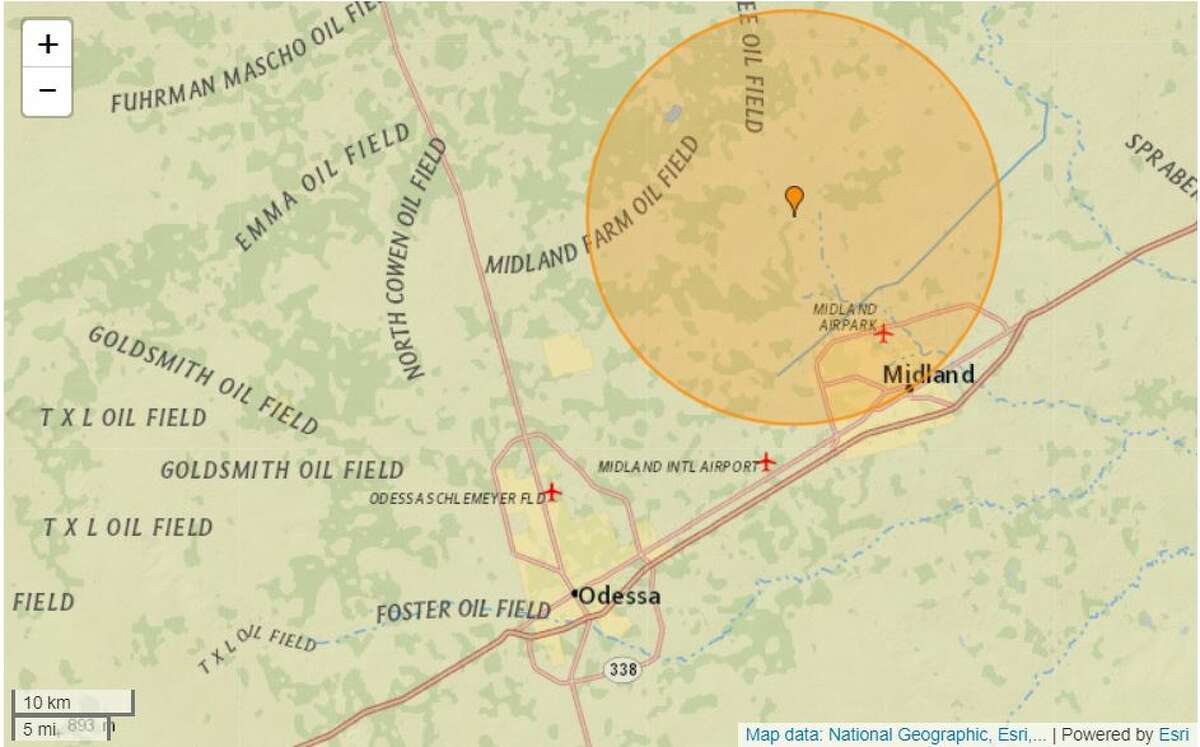 A 2.6 magnitude-quake took place Monday at 11:09 a.m. in Martin County. The quake was reported 9.94 miles northwest of Midland with a depth of 3.1 miles, according to the UGSG website.