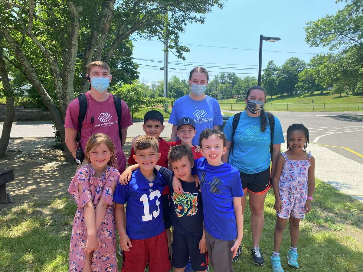 The BGCR Green Group: Counselor Chris Cozens, campers Qeas Suleman and James Harris; Counselor Hailey Robson, Counselor, Jenna Walls and camper Kiera Nowling; front row: Campers Mariah Palinkas, Bryan Previati, Tyler Gorman and Micah Rottman.