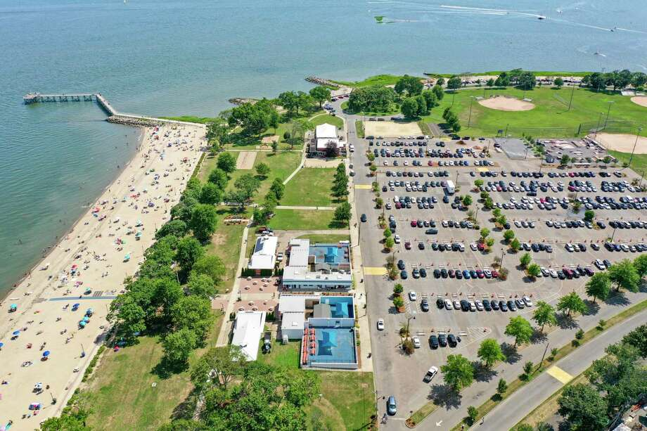 Norwalk has canceled plans to hold high school graduations in August in the parking lot of Calf Pasture Beach. Photo: Patrick Sikes / For Hearst Connecticut Media