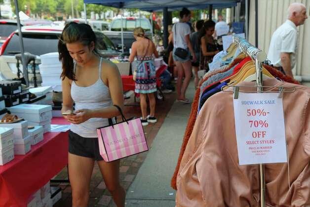 Fairfield Sidewalk Sale, Fairfield Shop 'till you drop at the Fairfield Sidewalk Sale on Saturday. Find out more.    Photo: Jarret Liotta / Jarret Liotta / ©Jarret Liotta