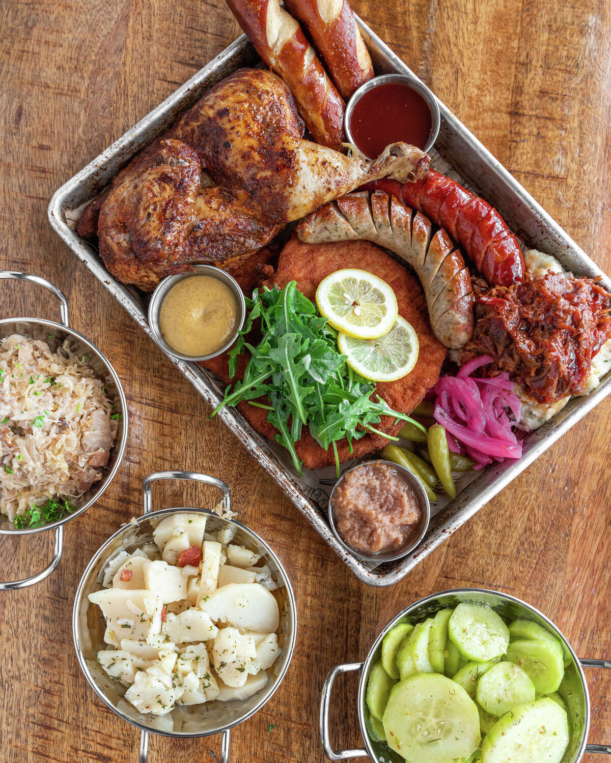 King's Biergarten in Pearland, closed since mid-March, is reopening on July 14. The menu has been revamped with new items in addition to the restaurant's lineup for German-Austrian fare.