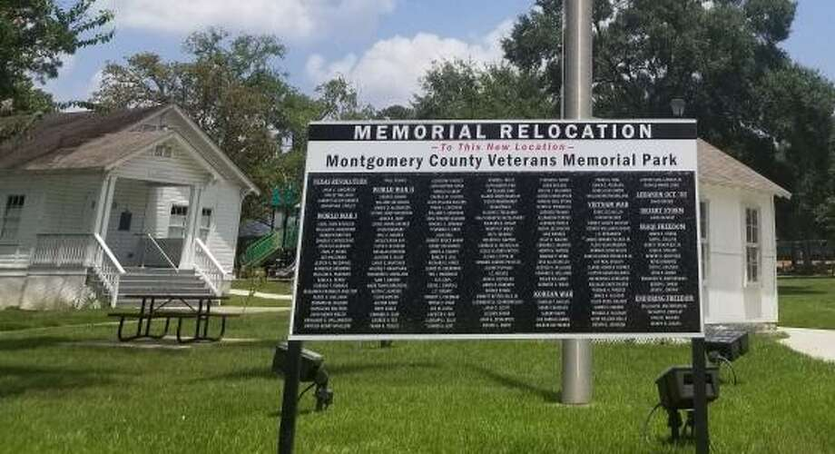 The names of the fallen from Montgomery County have been temporarily moved from the decommissioned Veterans Memorial Park in downtown Conroe to the Montgomery County Heritage Museum. Photo: Photos Courtesy The Montgomery County Veterans Memorial Park Project