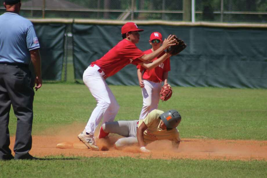 Due to Harris County closing down NASA Pony Baseball, close plays at second base have come to an end this summer at Mark Ulmer Field. Photo: Robert Avery