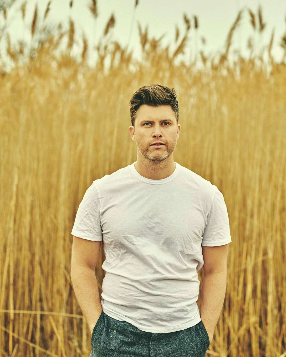 The a€œSaturday Night Livea€ star Colin Jost in Montauk, N.Y., March 18, 2020. a€œIa€™m not really ever looking for sympathy from anybody,a€ said Jost, who has a memoir coming out on July 14. a€œIf people hate me, I understand it. I also hate myself sometimes.a€ (Bryan Derballa/The New York Times)