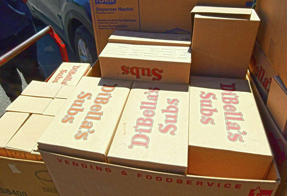 DiBella's Subs boxes